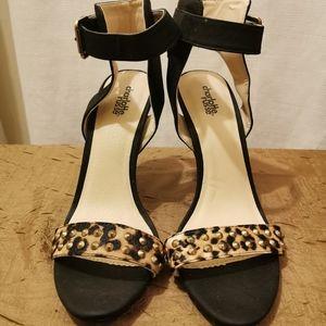 Charlotte Russe Leopard Print Studded Heels